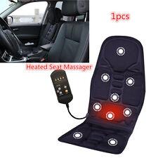 1× Car Autos Back Massage Chair Heat Seat/Cushion Neck Pain Lumbar Massager Pad