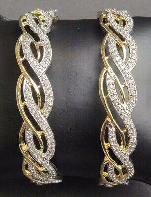MANY SIZES AVAILABLE #B1 BRAND NEW BEAUTIFUL ZIRCONIA AMERICAN DIAMOND BANGLES
