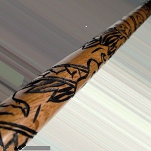 Carved Dragon Bo Staff Martial Arts Karate Training Practice Red Oak NEW 6 Feet