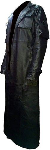 Homme en Cuir Long Manteau 100/% Véritable Cuir D/'AgneAu Trench pleine longueur Classique Hommes Manteau