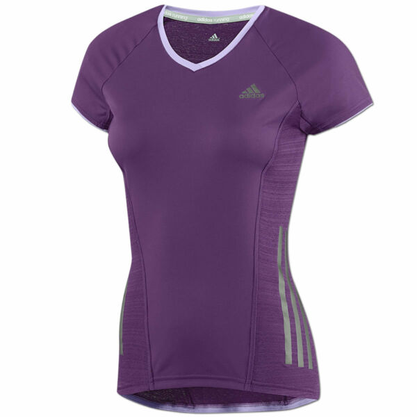 adidas Damen Supernova Shirt Laufshirt Fitness Running Fitness Tee purple NEU