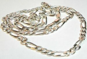 925-Sterling-Silver-Chain-Figero-Links-31-Grams-26-034-Length-I-2557-18