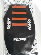 Black//Orange Zebra Gripper Seat Cover Fit KTM 400EXC-F 2000 2001 2002