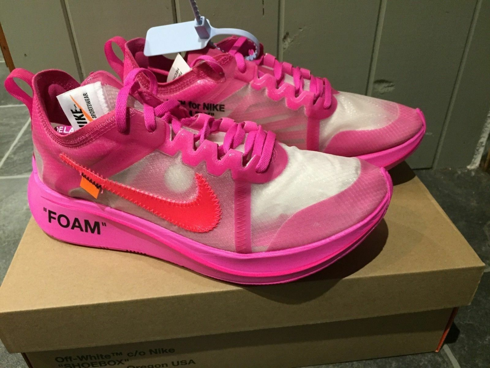 Off-White x Nike Zoom Fly SP 4 5.5 7.5 10 11 Tulip Pink AJ4588-600