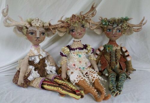 "Paper *NEW* Cloth Art Doll Pattern /""Deer Miss Millicent/"" By Paula McGee"
