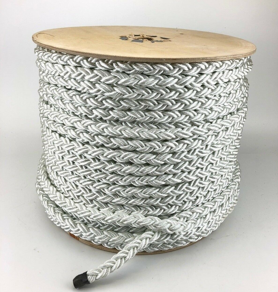 10mm 8 Strand White Nylon Rope x 100m Reel,Mooring Rope Multiplait Octoplait