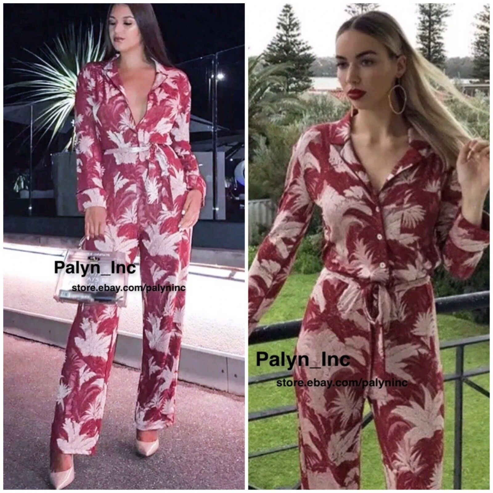 938bd611 NEW Free People FP X Eileen Romper Jumpsuit In Ginger RSP 128 Size Sz 4. NWT  ZARA SS18 REDS FLORAL ...