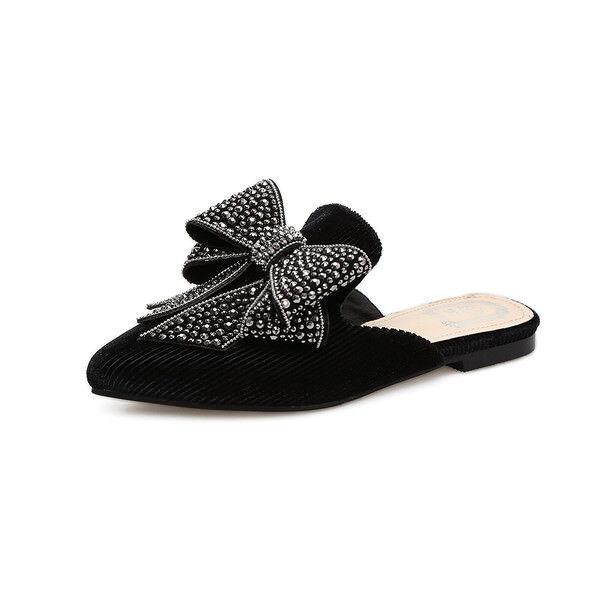 Hausschuhe elegant holzschuhe schwarz schleifchen schleifchen ... ... ... 85cdfc