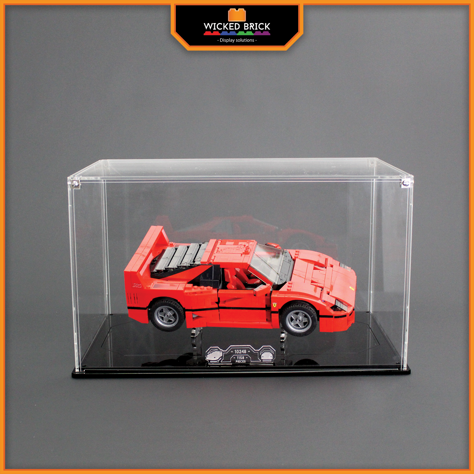 Display stand and case for LEGO Creator  Ferrari F40 (10248)