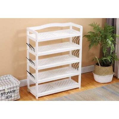 5 Tier Wooden Shoe Rack Storage Shelf Cabinet Stand Organizer Storing Footwear