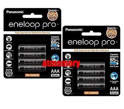 8pcs Panasonic Eneloop Pro 950mAh AAA Precharge NiMH Rechargeable Battery Sanyo