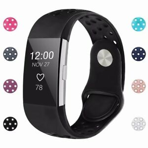For-Fitbit-Charge-2-Wristband-Replacement-Buckle-Silicone-Strap-Watch-Bands-S-L