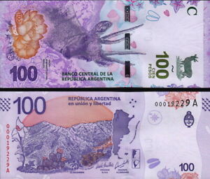 Argentina - 100 Pesos 2018 Fds - UNC