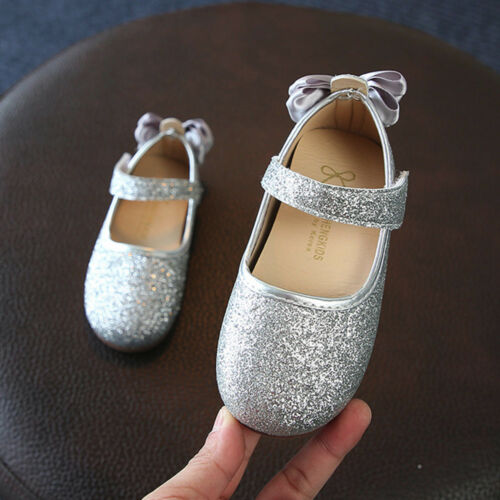 Baby Girls Bowknot Sandals Sequins Sneaker Toddler Beautiful Casual Single Shoes