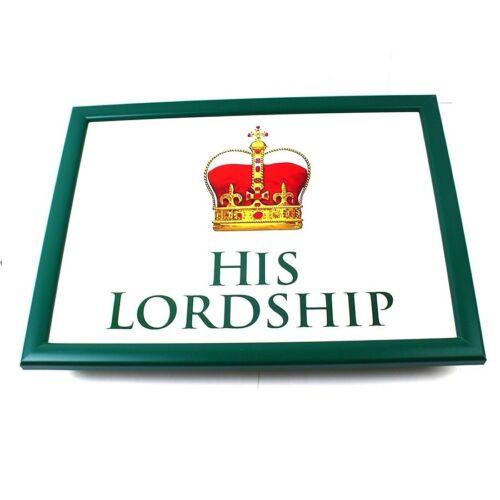 LADYSHIP LORDSHIP HEAT RESISTANT DINNER LAP TRAY SOFT CUSHION BEAN TABLE LAPTRAY