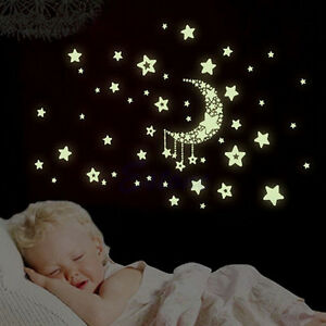Image Is Loading Glow In The Dark Wall Stickers Home Bedroom