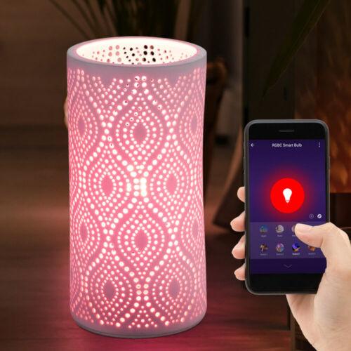 Smart Home RGB LED Tisch Lampe Dielen Nacht-Licht Lese Alexa Google Leuchte