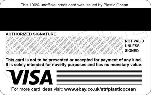 Paloma Faith Novità carta di credito in plastica