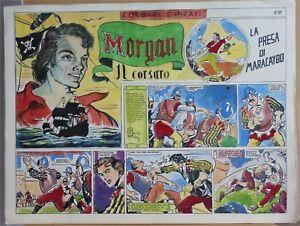 CARLO-SAVI-STORIA-COMPLETO-6-tablas-de-originales-MORGAN-EN-CORSARO-1948