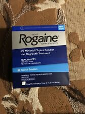 NEW ROGAINE EXTRA STRENGTH MEN 3 MONTH SUPPLY SOLUTION 5% MINOXIDIL UNSCENTED