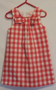 COUNTRY-ROAD-Girls-Pinky-Red-White-Gingham-Check-Sleeveless-Shift-Dress-18-24m