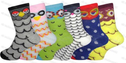 Girls Boys Socks 6 Pairs Novelty Character Childrens Kids Funky Designs