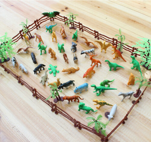 68x//set 3D Animal Model Toys for Simulation Zoo Classic Collection Gift JS