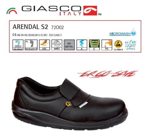 Sicherheits Arbeits Schuhe Koch Küche Made in Italy Composite Vorderkappe Ergo Safe Sohle