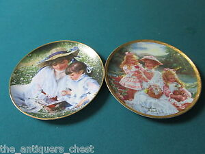 Sandra-Kuck-Victorian-Mothers-collector-plates-034-Loving-Touch-034-amp-034-am6