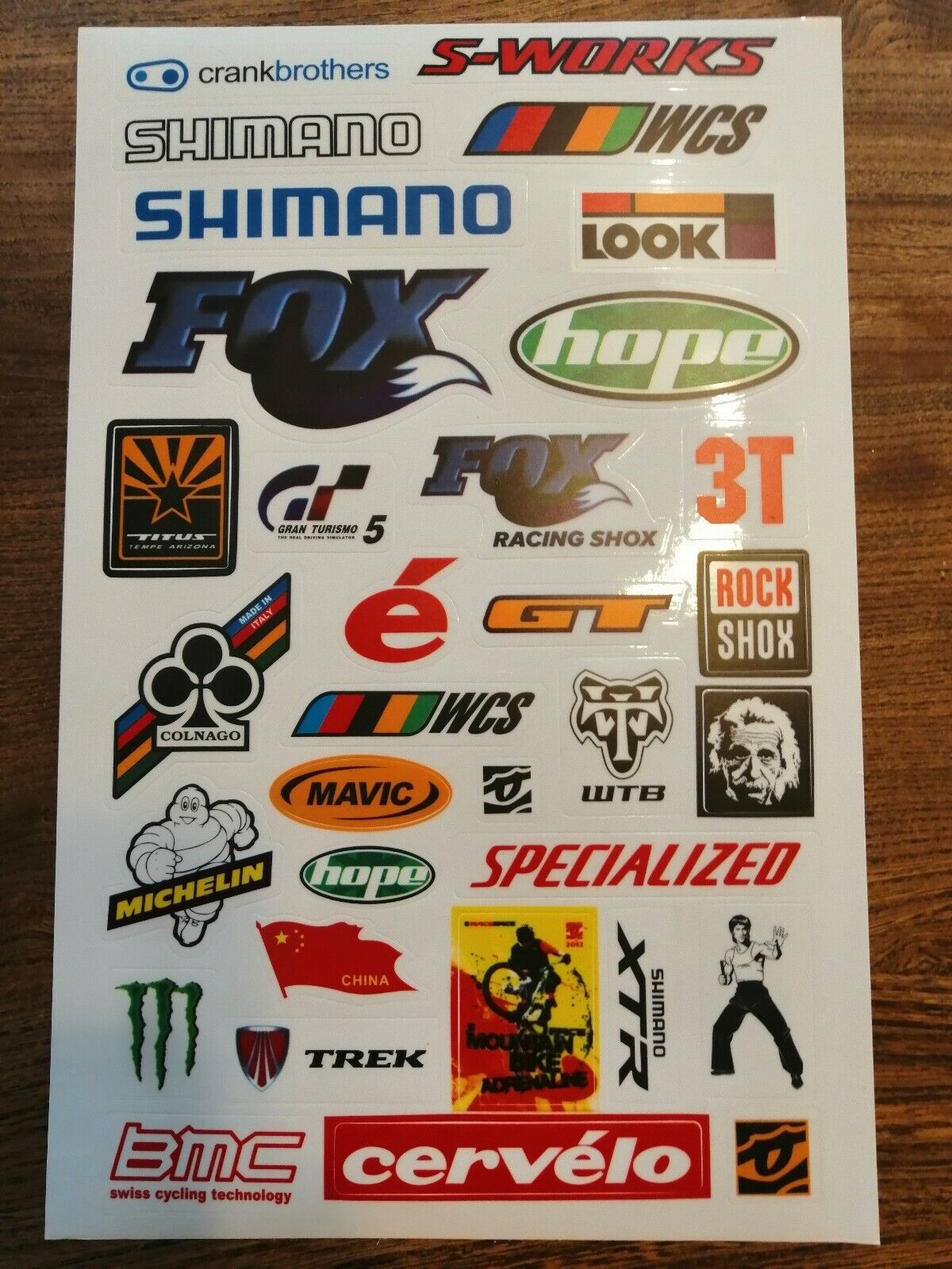 GENUINE HOPE TECH STICKERS GRAPHICS DECALS MTB MOUNTAIN BIKE CYCLING