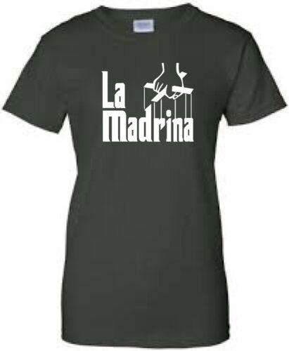 La madrina la marraine Shirt en espagnol Neuf Choisir Votre Taille Femmes Fit