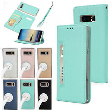For Samsung Galaxy Note 8/S8 Leather Removable Wallet Flip Card Phone Case Cover