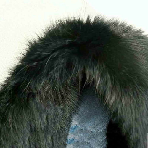 100/% Genuine Naturally Rabbit Fur Skin tanned Leather Hides Craft Black Pelts #J