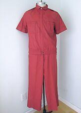 Vtg 70s Campus Rust Brown 2-Pc SS Zip Jacket Pants Disco Pimp Leisure Suit M
