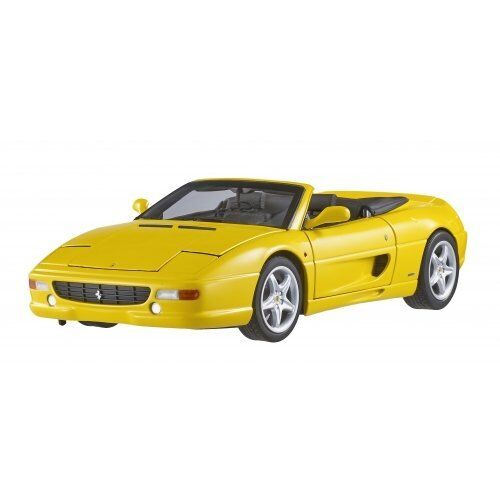 HOT WHEELS ELITE FERRARI F355 SPIDER CONgreenIBLE YELLOW 1 18 DIECAST MODEL BLY35