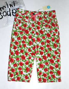 5a61ea47c3bf6 Image is loading NWT-Mini-Boden-Roses-Printed-Baggies-Cropped-Trousers-