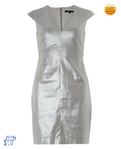 FRENCH CONNECTION Silver Shimmer Shift Dress Size UK 16 - Greenock, Renfrewshire, United Kingdom - FRENCH CONNECTION Silver Shimmer Shift Dress Size UK 16 - Greenock, Renfrewshire, United Kingdom
