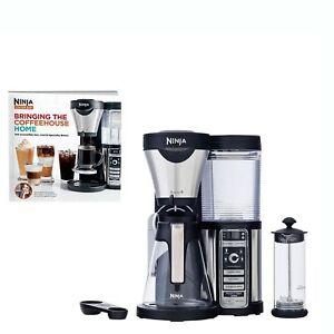 Ninja-Coffee-Bar-Coffee-Bar-w-Glass-Carafe-Frother-amp-100-Recipe-Cookbook-CF080W
