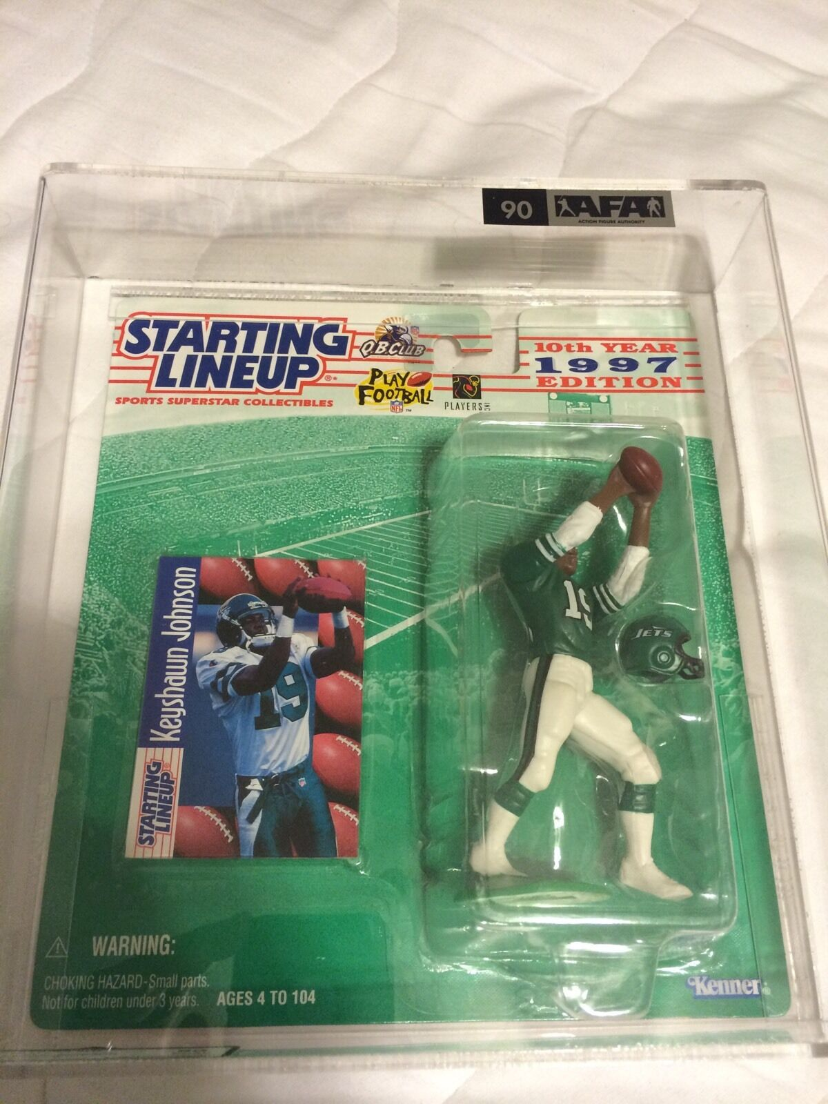 SLU 1997 KEYSHAWN JOHNSON ROOKIE NY JETS AFA 90 NM+ football starting lineup