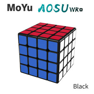 MoYu AoSu GTS M 4X4X4 Black Magnetic Magic Speed Cube Ship from MA