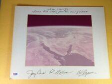 Skylab III Crew Signed Inscribed Photo PSA/DNA COA LOA Grade 9,8,9