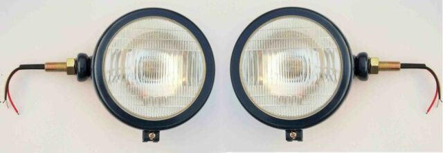 dark blue TRACTOR Head Lamps in Set (LH+RH) -12V with BULB
