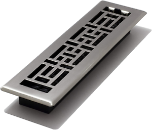 fini nickel brossé DECOR Grates AJH212-NKL Oriental Floor Register 2 x