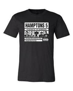 Hamptons-5-Five-Super-Death-Line-up-Men-039-s-T-Shirt-Tee-Warriors-NWA-New-Black