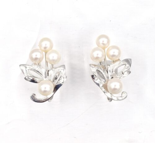 Gold or Silver Tone Backs with Bright Crystal Plastic Antique Earrings Vintage 1950s Clip On Earrings Not Cleaned or Retouched Lucite