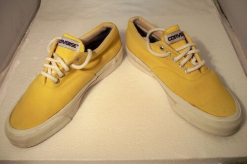 Vintage 80's Converse Made In USA Skid Grip Yellow