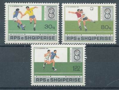287325 Albanien Albanien Nr.2362-2364** Fußball Promoting Health And Curing Diseases Briefmarken