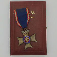 United Kingdom British  Royal Victorian order medal MVO 5th with case
