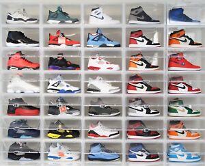 2-x-Premium-Clear-Side-Drop-Mens-Shoe-Sneaker-Box-Crates-storage-Container-rack