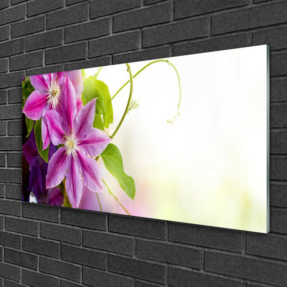 Glass print Wall art 100x50 Image Picture Flowers Floral Floral Floral 43d9d0